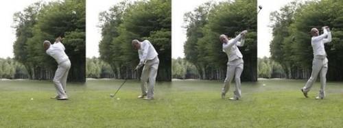 Passos para um taco de golfe