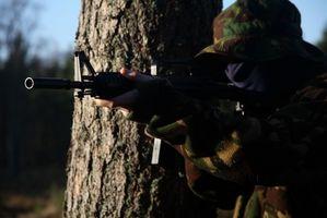 Como usar o Red Dot Sight Com AR-15 Sights A3 com frente