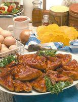 Como fazer asas de frango cozido chinês